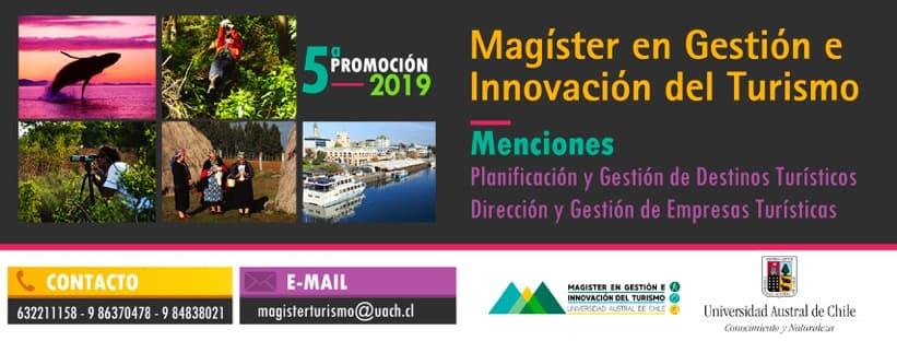 Magister en Gestión e Innovación del Turismo