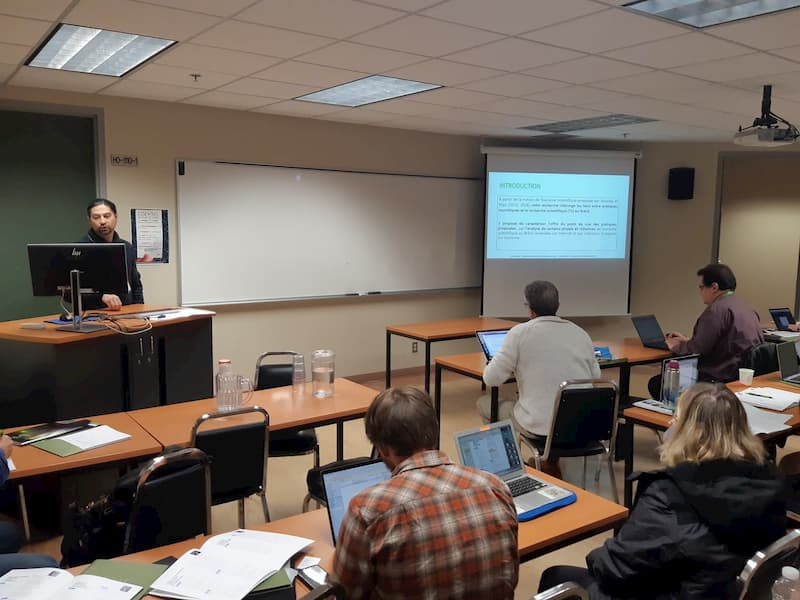 Presentación de Michel Bregolin en Quebec