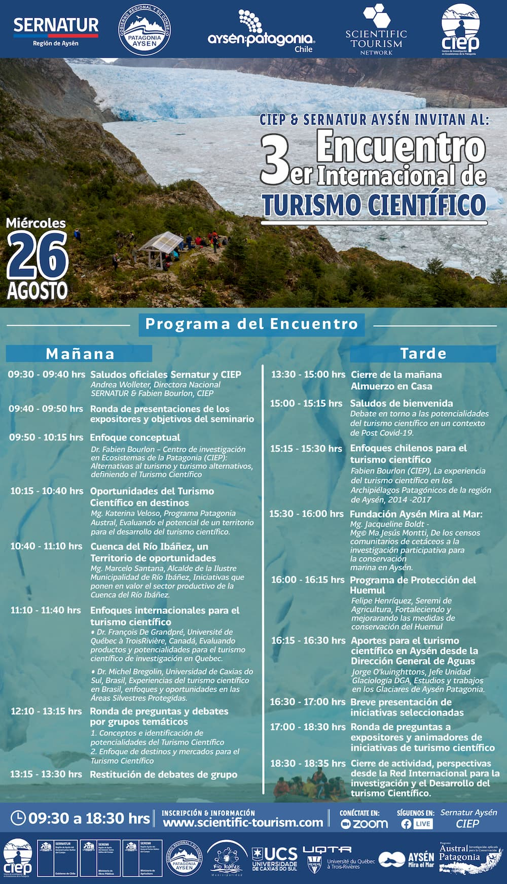 Programa 3er Encuentro de Turismo Científico