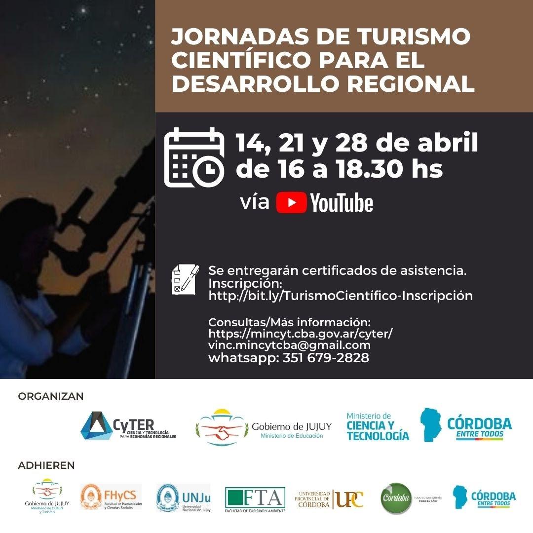 Jornadas de Turismo Científico para el Desarrollo Regional